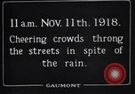 Image of Armistice Day London England United Kingdom, 1918, second 9 stock footage video 65675024160