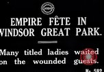 Image of Empire fete Windsor Park England, 1917, second 4 stock footage video 65675024164