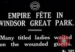 Image of Empire fete Windsor Park England, 1917, second 5 stock footage video 65675024164