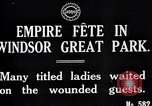 Image of Empire fete Windsor Park England, 1917, second 6 stock footage video 65675024164