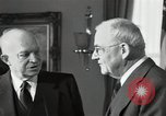 Image of Eisenhower and Dulles in White House Washington DC USA, 1955, second 10 stock footage video 65675024226