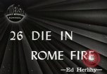 Image of Fire Rome Italy, 1947, second 1 stock footage video 65675024252
