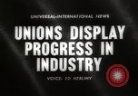 Image of Unions Display United States USA, 1961, second 1 stock footage video 65675024255