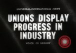 Image of Unions Display United States USA, 1961, second 2 stock footage video 65675024255