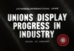 Image of Unions Display United States USA, 1961, second 4 stock footage video 65675024255