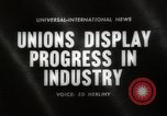 Image of Unions Display United States USA, 1961, second 5 stock footage video 65675024255