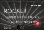 Image of V-2 Rockets Germany, 1943, second 1 stock footage video 65675024298