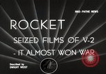 Image of V-2 Rockets Germany, 1943, second 4 stock footage video 65675024298