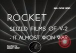 Image of V-2 Rockets Germany, 1943, second 7 stock footage video 65675024298