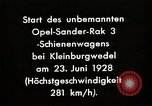 Image of Rocketry Germany, 1928, second 3 stock footage video 65675024377