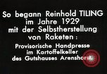 Image of Reinhard Tiling Arenshorst Germany, 1929, second 8 stock footage video 65675024385