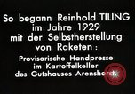 Image of Reinhard Tiling Arenshorst Germany, 1929, second 9 stock footage video 65675024385