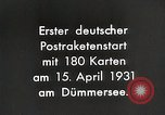 Image of First successful post office rocket Germany, 1931, second 3 stock footage video 65675024387
