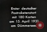 Image of First successful post office rocket Germany, 1931, second 4 stock footage video 65675024387