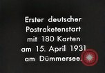 Image of First successful post office rocket Germany, 1931, second 5 stock footage video 65675024387