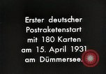 Image of First successful post office rocket Germany, 1931, second 6 stock footage video 65675024387
