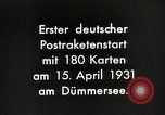 Image of First successful post office rocket Germany, 1931, second 8 stock footage video 65675024387