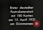 Image of First successful post office rocket Germany, 1931, second 10 stock footage video 65675024387