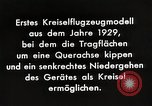 Image of Gyro aircraft principle Germany, 1929, second 7 stock footage video 65675024390