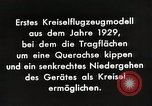 Image of Gyro aircraft principle Germany, 1929, second 8 stock footage video 65675024390
