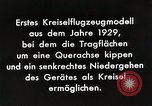 Image of Gyro aircraft principle Germany, 1929, second 11 stock footage video 65675024390