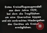 Image of Gyro aircraft principle Germany, 1929, second 12 stock footage video 65675024390