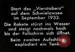 Image of Testing rockets at Schwielowsee Germany, 1933, second 3 stock footage video 65675024413