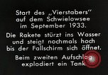 Image of Testing rockets at Schwielowsee Germany, 1933, second 4 stock footage video 65675024413