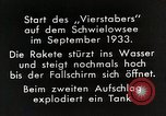 Image of Testing rockets at Schwielowsee Germany, 1933, second 5 stock footage video 65675024413