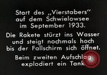 Image of Testing rockets at Schwielowsee Germany, 1933, second 6 stock footage video 65675024413