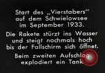 Image of Testing rockets at Schwielowsee Germany, 1933, second 7 stock footage video 65675024413