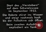 Image of Testing rockets at Schwielowsee Germany, 1933, second 10 stock footage video 65675024413