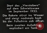 Image of Testing rockets at Schwielowsee Germany, 1933, second 11 stock footage video 65675024413