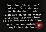 Image of Testing rockets at Schwielowsee Germany, 1933, second 12 stock footage video 65675024413