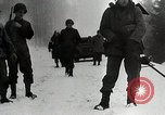 Image of American Troops use mine detectors in snow Germany, 1944, second 9 stock footage video 65675024444