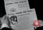 Image of Atoms for Peace exhibits and propaganda United States USA, 1954, second 2 stock footage video 65675024534