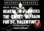 Image of floral Valentines new fad New York United States USA, 1939, second 1 stock footage video 65675024548