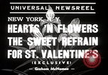 Image of floral Valentines new fad New York United States USA, 1939, second 2 stock footage video 65675024548