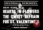 Image of floral Valentines new fad New York United States USA, 1939, second 4 stock footage video 65675024548