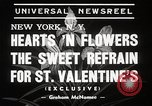 Image of floral Valentines new fad New York United States USA, 1939, second 5 stock footage video 65675024548