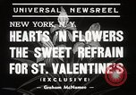 Image of floral Valentines new fad New York United States USA, 1939, second 6 stock footage video 65675024548