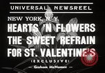 Image of floral Valentines new fad New York United States USA, 1939, second 7 stock footage video 65675024548