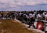 Image of astronauts and their departure Grand Turk Island, 1962, second 4 stock footage video 65675024579