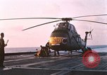 Image of US Marine Corp UH 34D helicopter Atlantic Ocean, 1962, second 1 stock footage video 65675024591