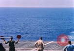 Image of US Marine Corps UH 34D helicopter lands on deck Cape Canaveral Florida USA, 1962, second 3 stock footage video 65675024593