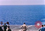 Image of US Marine Corps UH 34D helicopter lands on deck Cape Canaveral Florida USA, 1962, second 10 stock footage video 65675024593