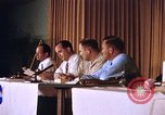 Image of press conference Cocoa Beach Florida USA, 1962, second 5 stock footage video 65675024602