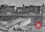 Image of bomb wrecked bridge Capua Italy, 1943, second 1 stock footage video 65675024687