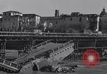 Image of bomb wrecked bridge Capua Italy, 1943, second 2 stock footage video 65675024687