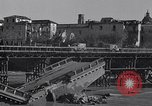 Image of bomb wrecked bridge Capua Italy, 1943, second 5 stock footage video 65675024687